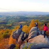 Randonnée au sommet du massif d'Uchon - Les rochers du Carnaval