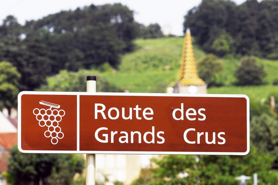 Panneau Route des Grands Crus