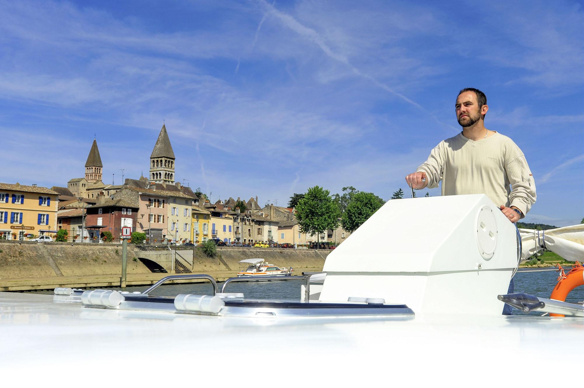 Plaisancier sur la Saône à Tournus