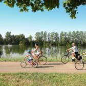 Vélo en famille au fil de l'eau