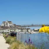 Auxerre, vue sur l'Yonne