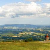 Point de vue au Mont Beuvray