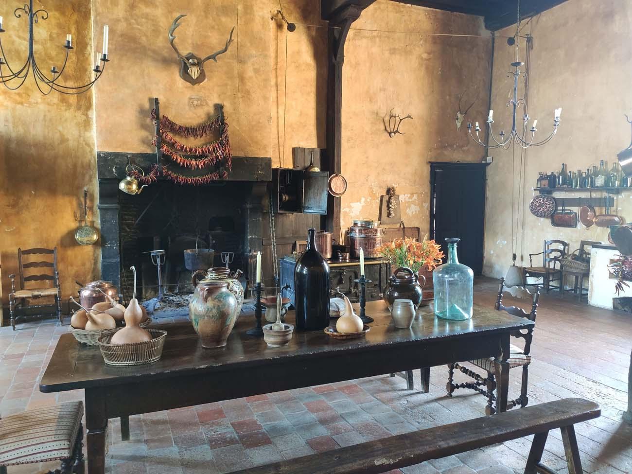 Cuisine du château de Cormatin