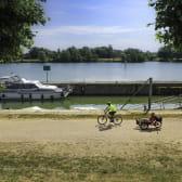 Vélo le long de la Saône, à Gigny-sur-Saône
