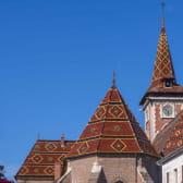 Eglise de Louhans aux toits vernissés