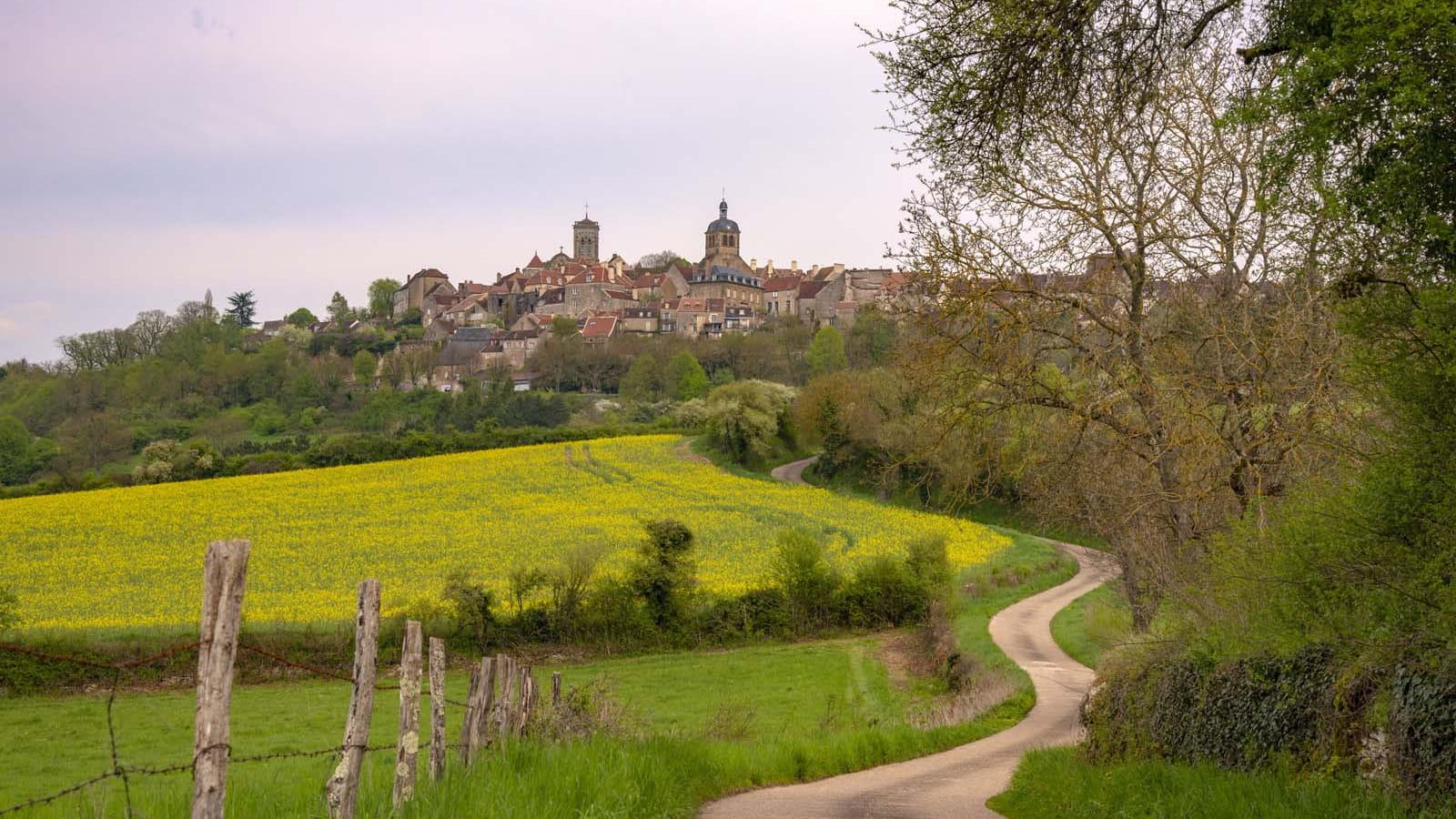 La colline de Vézelay au printemps