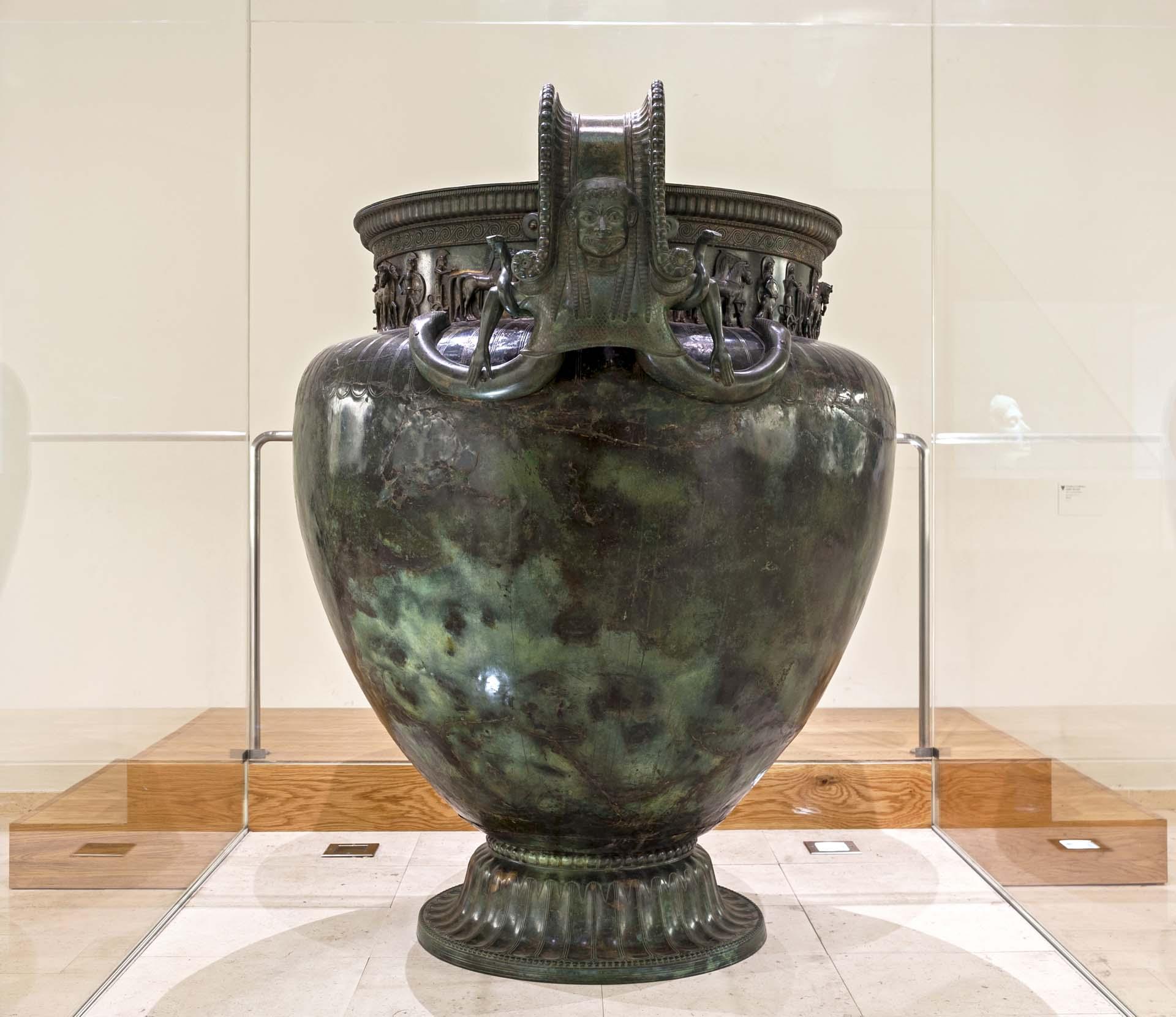 Vase de Vix esposé au musée de CHatillon-sur-Seine