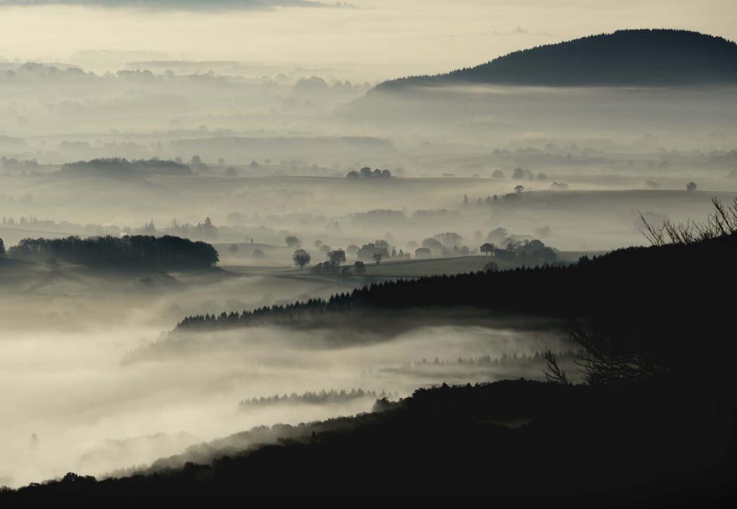 Vue sur le Morvan depuis Bibracte et le Mont Beuvray