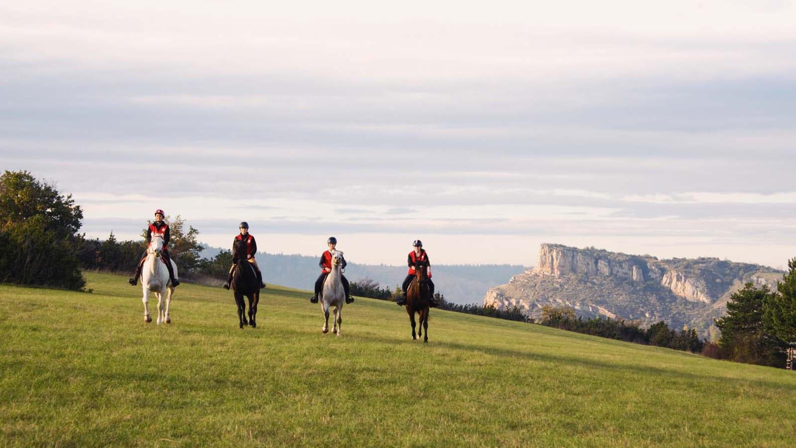 Sortie cheval en Bourgogne du Sud